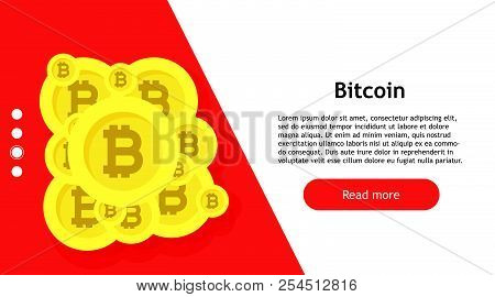 Bitcoin Internet Symbol Economy Banking. Commerce Sign Computer Btc. Crypto Currency Growth Blockcha