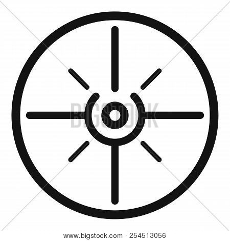 Aim scope target icon. Simple illustration of aim scope target icon for web design isolated on white background poster