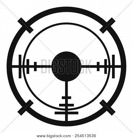 Sniper Elite Aim Icon. Simple Illustration Of Sniper Elite Aim Icon For Web Design Isolated On White