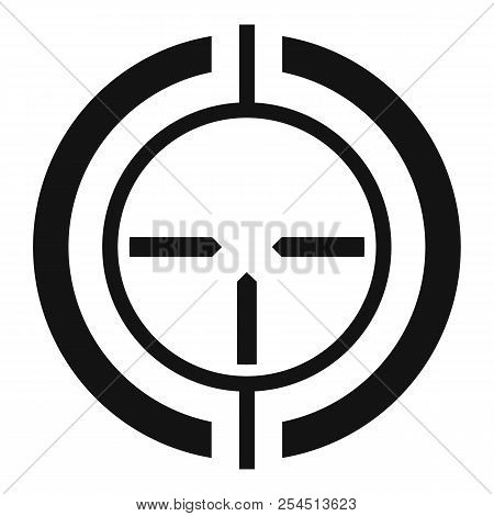 Gun scope aim icon. Simple illustration of gun scope aim icon for web design isolated on white background poster
