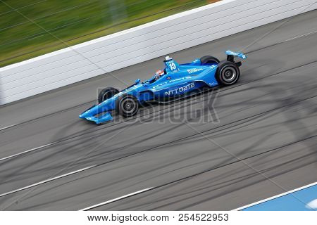 August 18, 2018 - Long Pond, Pennsylvania, USA: ED JONES (10) of the United Arab Emirates takes to the track to practice for the ABC Supply 500 at Pocono Raceway in Long Pond, Pennsylvania.