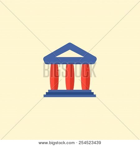 Court Icon Flat Element. Vector Illustration Of Court Icon Flat Isolated On Clean Background For You