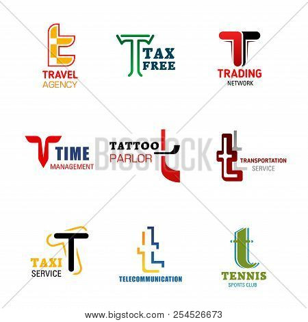 Letter T Icons For Company Corporate Or Company Identity, Travel Agency Or Tax Free Shopping And Tra