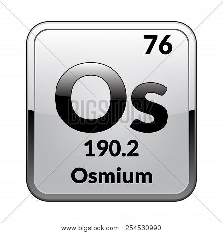 Osmium symbol vector photo free trial bigstock osmium symbolemical element of the periodic table on a glossy white background in a urtaz Gallery