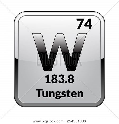 Tungsten Symbol Vector Photo Free Trial Bigstock