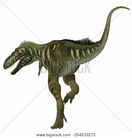 Bistahieversor Dinosaur Tail 3d Illustration - Bistahieversor Was A Carnivorous Theropod Dinosaur Th