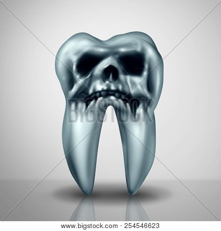Tooth Decay Disease Danger As A Cavity Or Cavities Symbol Showing The Risk Of Tooth Anatomy In Decay