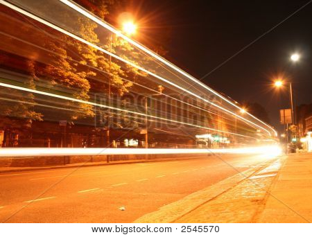 London Bus Speeding Past