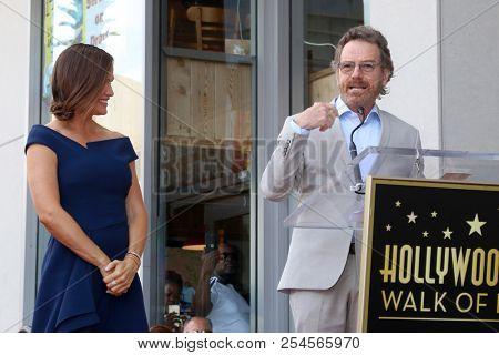 LOS ANGELES - AUG 20:  Jennifer Garner, Bryan Cranston at the Jennifer Garner Star Ceremony on the Hollywood Walk of Fame on August 20, 2018 in Los Angeles, CA