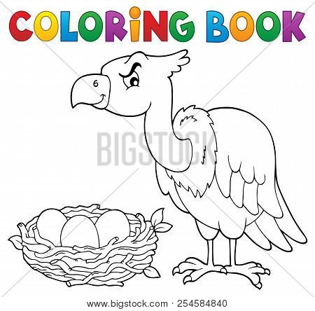 Coloring Book Bird Topic 2 - Eps10 Vector Picture Illustration.