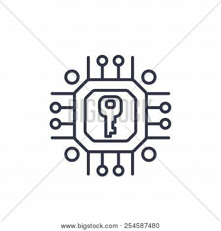 Encryption, Cryptography Vector Linear Icon, Eps 10 File, Easy To Edit