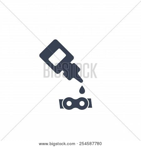 lubricant, oil for bike chain icon, eps 10 file, easy to edit poster
