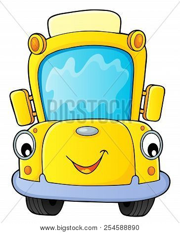 School Bus Thematics Image 4 - Eps10 Vector Picture Illustration.
