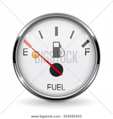 Fuel Gauge  Empty Vector & Photo (Free Trial) | Bigstock