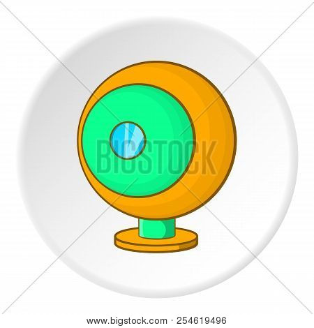 Webcam icon. Cartoon illustration of webcam icon for web poster