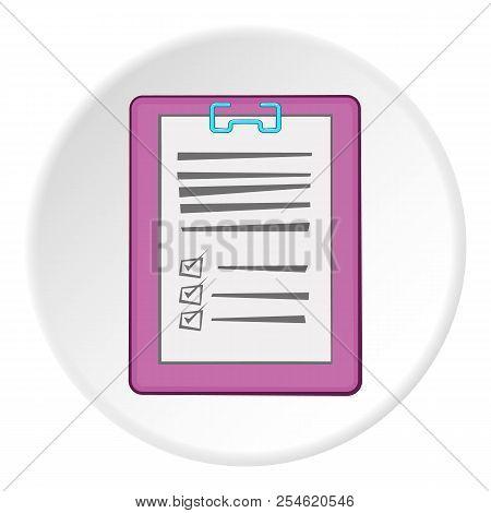 Diagnosis On Paper Icon. Cartoon Illustration Of Diagnosis On Paper Icon For Web