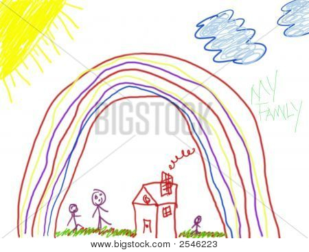 Child'S Drawing Of Happiness