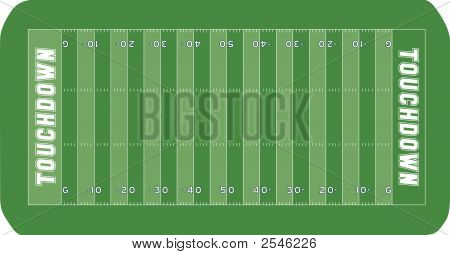 An vector illustration of an American football field poster