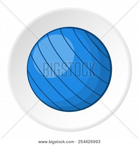Blue Volleyball Ball Icon. Cartoon Illustration Of Blue Volleyball Ball Icon For Web
