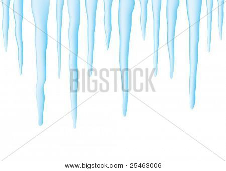 Vector illustration of a series of icicles