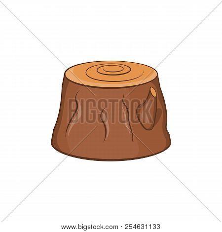 Tree Stump Icon. Cartoon Illustration Of Stump Icon For Web Design