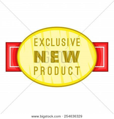 New Exclusive Product Label Icon. Cartoon Illustration Of New Exclusive Product Label Icon For Web