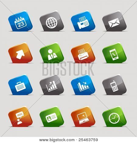 Cut Squares - Office and Business icons