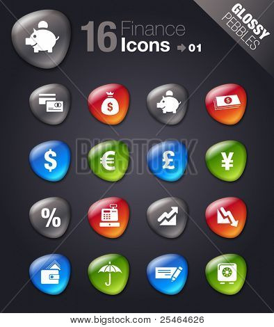 Glossy Pebbles - Finance icons