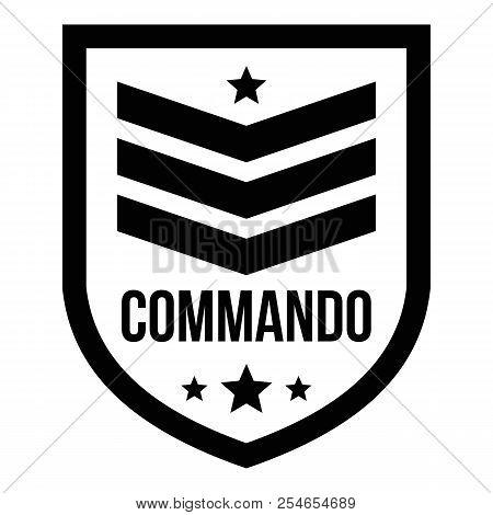 Commando badge logo. Simple illustration of commando badge logo for web design isolated on white background poster