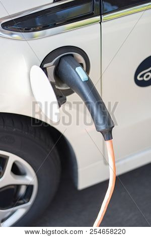 Electric Vehicle When Charging At A Charging Station