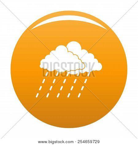 Cloud Rain Storm Icon. Simple Illustration Of Cloud Rain Storm Icon For Any Design Orange