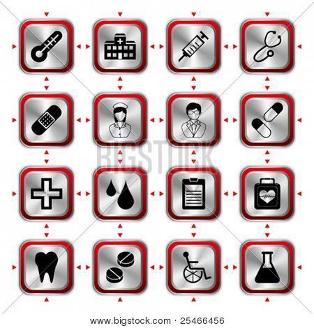 Medical icons set HL. Illustration vector
