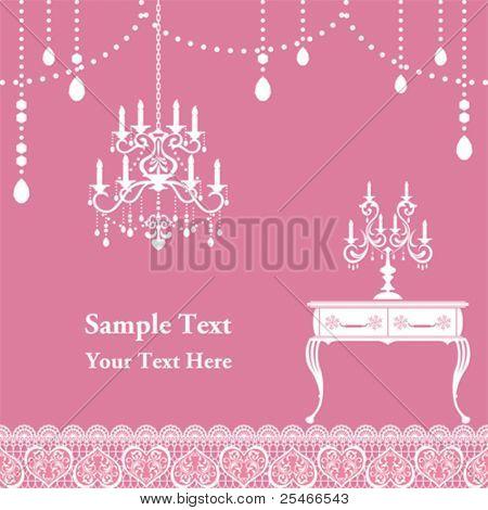 Candle frame. Illustration vector