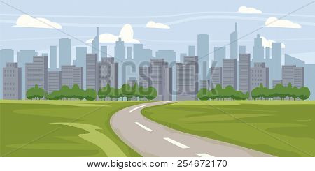 Cityscape Background. Buildings Silhouette Cityscape. Modern Architecture. Urban Landscape. Horizont