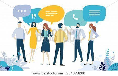 Vector Illustration Concept Of Testimonial, Social Media, Networking, Business Communication, Forum,