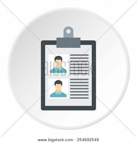 Summary In Folder Icon. Flat Illustration Of Summary In Folder Icon For Web