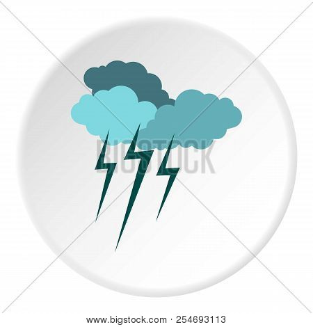 Clouds And Storm Icon. Flat Illustration Of Clouds And Storm Icon For Web