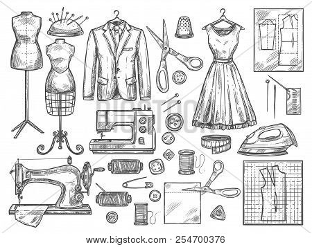 Tailor Dressmaker Vector Photo Free Trial Bigstock
