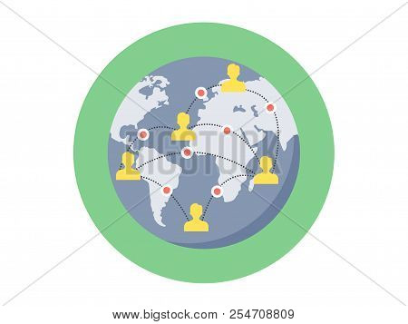 Internet Global Icon. Element Of Web Icon For Mobile Concept And Web Apps. Isolated Internet Global