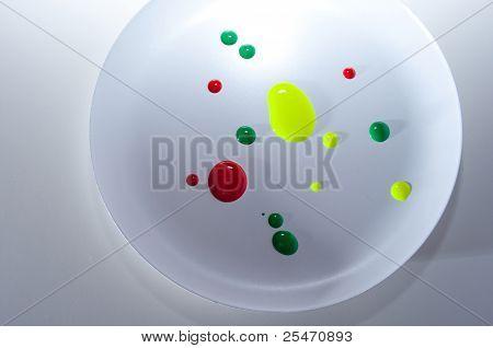 Red Green Yellow Nail Polish Spill