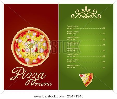 Pizza Menu Template Vector Vector  Photo  Bigstock