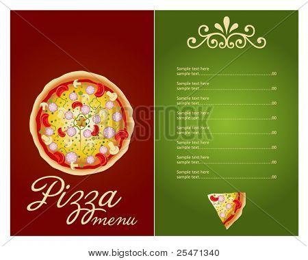 Pizza Menu Template Vector Vector  Photo  Bigstock
