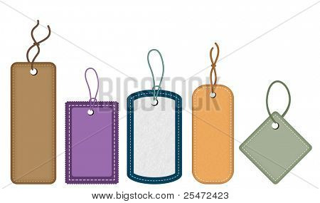 Collection of various tags