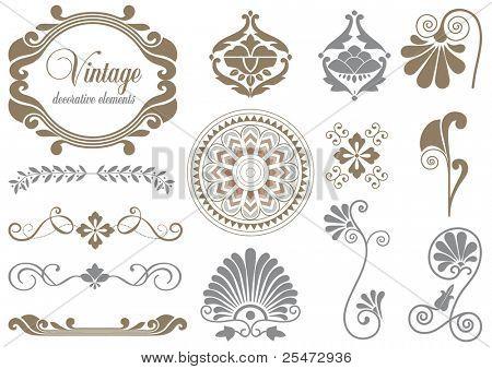Vintage design elements for decoration