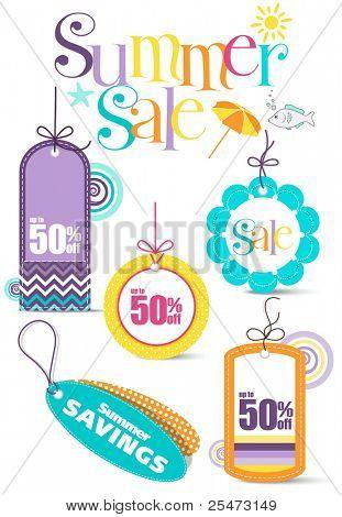 Summer Sale-Design-Elemente