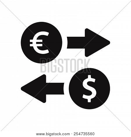 Euro And Dollar Exchange Icon Isolated On White Background. Euro And Dollar Exchange Icon In Trendy