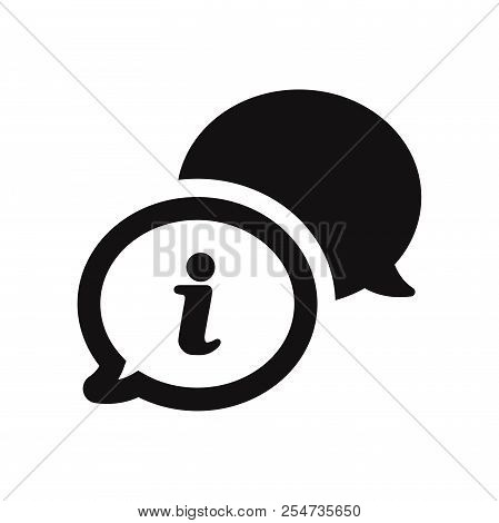 Conversation Icon Isolated On White Background. Conversation Icon In Trendy Design Style. Conversati