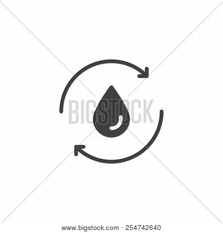 Recycle water vector icon. filled flat sign for mobile concept and web design. water cycle simple solid icon. Symbol, logo illustration. Pixel perfect vector graphics poster