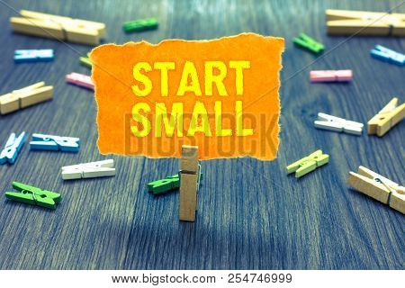 Conceptual Hand Writing Showing Start Small. Business Photo Text Small Medium Enterprises Start Up B