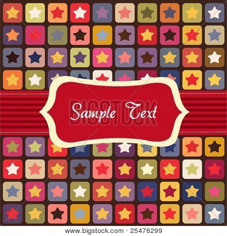 Seamless stars colorful pattern, card